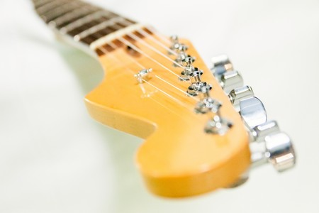 fingerboard: Image of guitar fingerboard on white background.