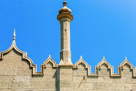 alupka: Architectural element (detail) Vorontsovs  in Alupka, Crimea. Ukraine. Russia Stock Photo
