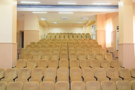 forums: Empty conference hall for holding business forums Stock Photo