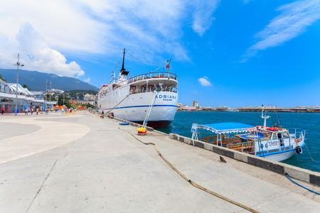 adriana: YALTA, UKRAINE - MAY 17: Ship Adriana in port of Yalta, Ukraine