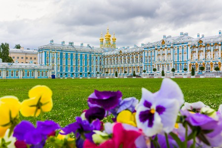 selo: The Catherine Palace in Tsarskoye Selo, resting place of the great leaders. St. Peterburg, Russia.
