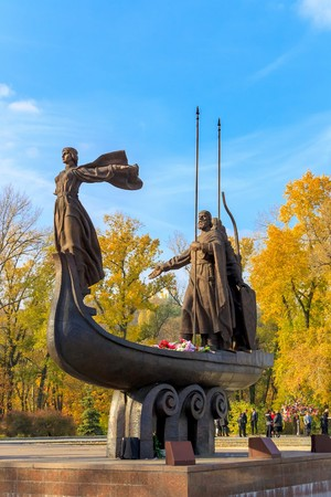 founders: Monument to founders of Kiev: Kiy, Schek, Khoryv and their siste Editorial