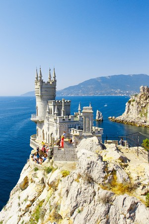 The well-known castle Swallow's Nest near Yalta. Crimea. Ukraine. Russia