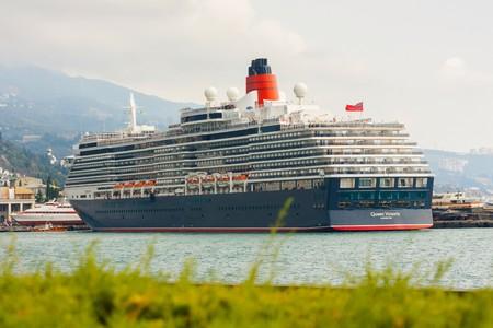 queen victoria: YALTA, UKRAINE - SEPTEMBER 21. Cunard liner Queen Victoria arrived in the seaport city of Yalta on September 21, 2012 in Yalta, Ukraine.