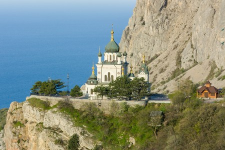 The Church of the Resurrection of Christ. Church On The Rock, Foros, Crimea, Ukraine.