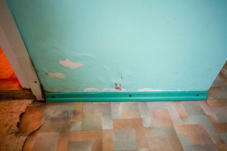 modernization: old abandoned building, interior, requiring repair and modernization Stock Photo