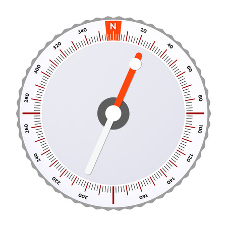 Sport Orienteering Compass. Vector illustration. White background. Editable Eps10.