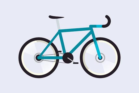 Road bike. Simple. Flat. Material design. Isolated. Vector illustration. Light background. Eps10.