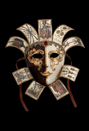 Carnival Mask from Venetian Carnival isoleted on black