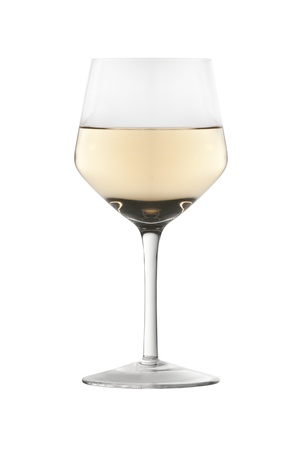 A glass of white wine isolated on white background Stock Photo