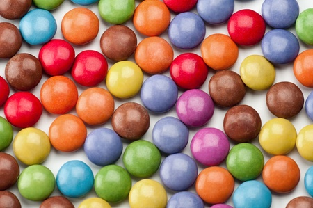 Background of round clorfull candys