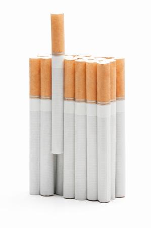 Virtual pack of cigarretes isolated on white  background Stock Photo