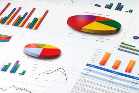 Graphs and Charts Report Stock Photo