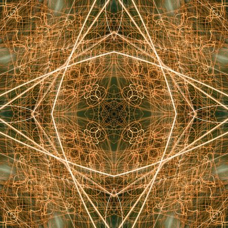 Complex golden green background. Seamless texture pattern.