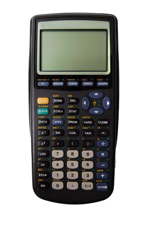 Scientific Graphing Calculator isolated on white background photo