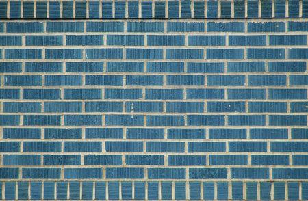 A brick wall made from blue bricks Banco de Imagens