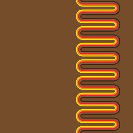 Seamless Retro pattern design on brown background.