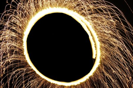 A glowing ring of sparks. photo