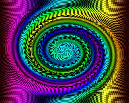 Rainbow swirl on square frame. The lines on the swirl appear to be moving. Stock Photo - 6070080