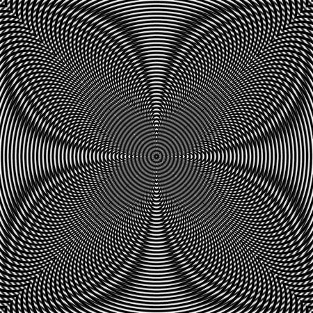Square illustration of a black and white Moiré Pattern Stock Illustration - 6114549