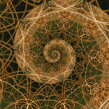 fibonacci number: The Golden Ratio, a mathematical phenomenon. Abstract background fractal representation of the golden mean.