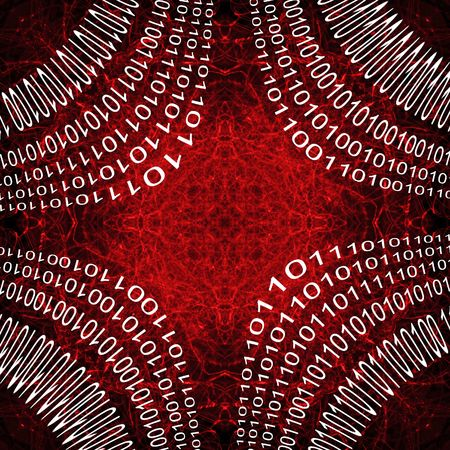 Digital Computer Language Binary abstract square background. red and white photo