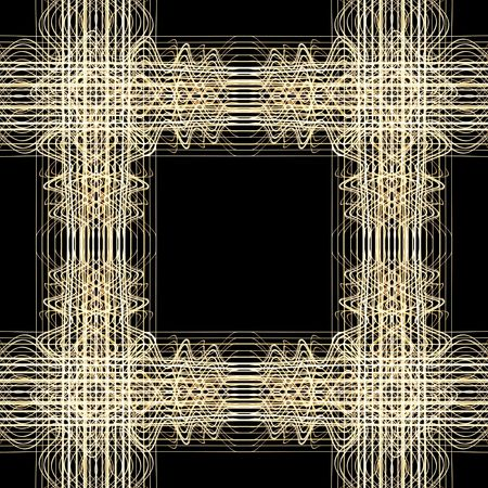 Abstract Seamless Square Lines on black background.