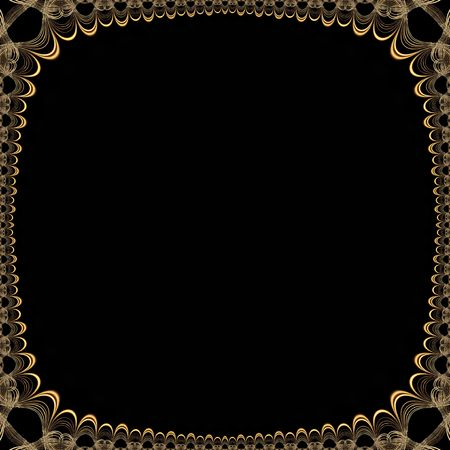 jalousie: Old glowing victorian seamless border pattern with lots of copy space in middle. Stock Photo