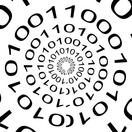 Abstract background of the computer language code: Binary.