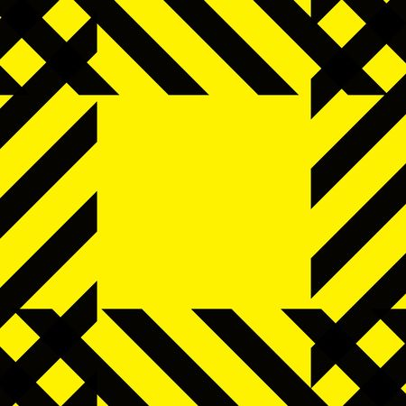 Simple caution construction background stripes on yellow square tile. Stock Photo - 6200414