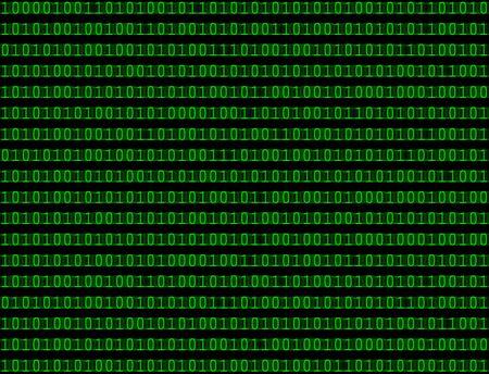 シームレスなパターンは緑色のテキストでコンピューターのバイナリ言語コードの抽象的な背景をテクスチャ。 写真素材