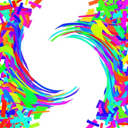 twist: Simple rainbow background twist with white copyspace in the middle.