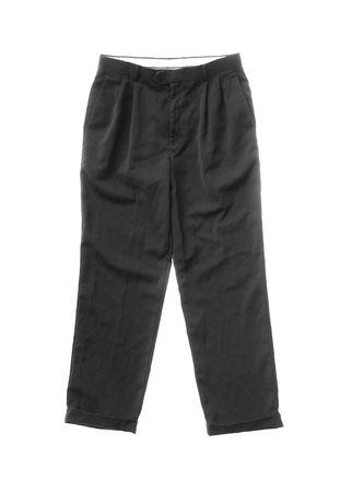 long pants: Black dress business slacks  pants isolated on a white background.