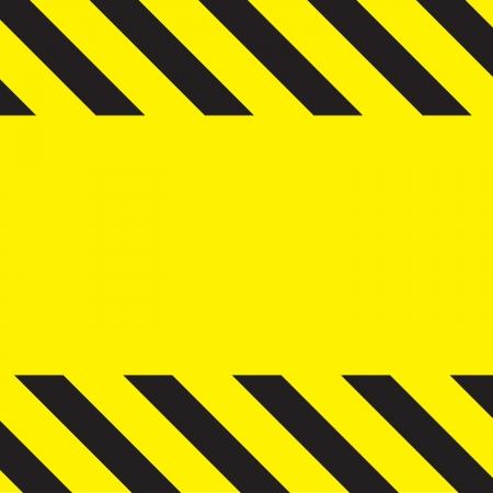 簡単な注意建設背景のストライプ黄色。 写真素材 - 6295259
