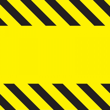 Simple caution construction background stripes on yellow. photo