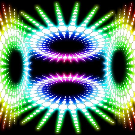 nightspot: Abstract graphic design illustration of a circular design. This could be considered to be a dance floor or a dance room. Stock Photo