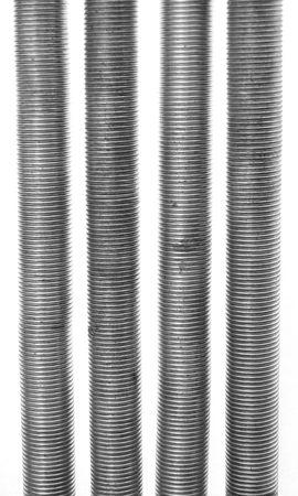 Four exercise springs isolated on white background. photo
