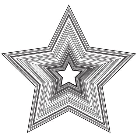 predominant: Abstract star illustration with black lines on white background. Add effects to make it glow!