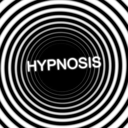 hypnotique: Le mot hypnose dans une spirale de noir et blanc hypnotique co�teuse