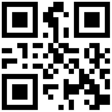 Abstract QR Code design illustration with black and white pixels in a square frame Stock Illustration - 6671886