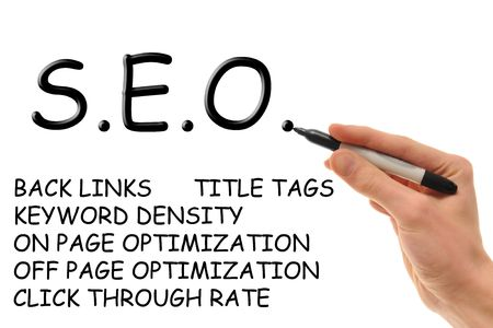 backlinks: Hand holding a marker writing down the essentials of Search Engine Optimization, also known as SEO and S.E.O.