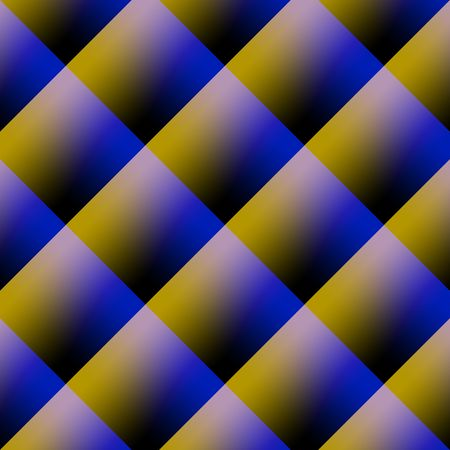 Abstract background image of yellow and blue stripes in square frame Stock Photo - 6814576