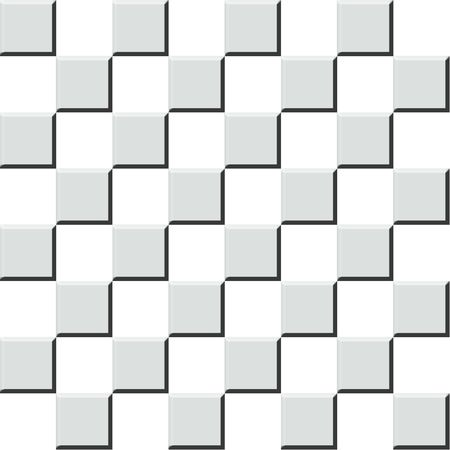 countertop: Abstract background illustration of 3d chess checkers tiles.