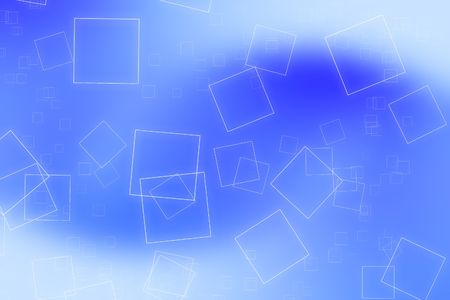 ambience: Abstract background with scattered glowing bright squares flying across a smooth background.  Stock Photo
