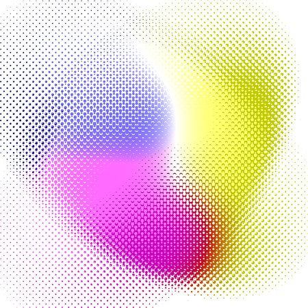Halftone pattern printed on four rainbow colors. This makes a great background because it is halfway blurry and halfway halftone. Reklamní fotografie