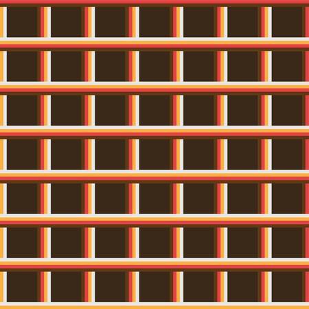 Retro lines background. Brown, orange, light brown, white. photo