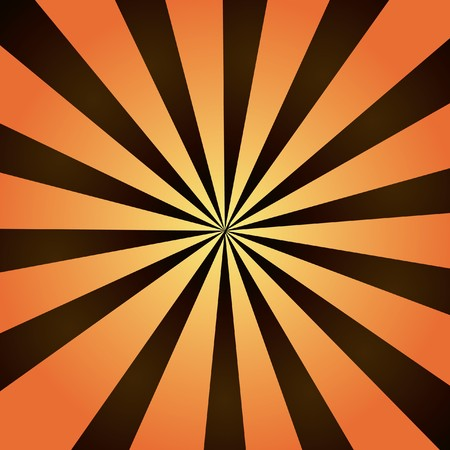 Brown and orange burst of striped rays with a radial gradient. photo