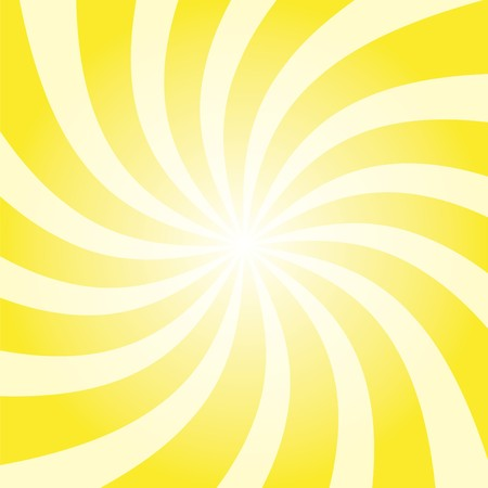 Funky abstract yellow background illustration of twisty stripes with a radial gradient. illustration