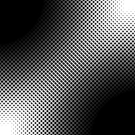 grid pattern: Abstract closeup of two circles with lines and squares as the halftone pattern. Usually halftone patterns are of dots or circles, but this with cut lines and squares.