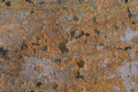 Rust texture originally from an old burn barrel. gritty brown and orange colors with holes. Stock Photo - 6975063
